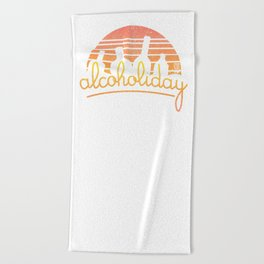 Alcoholiday Beach Towel