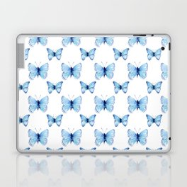 Blue Butterflies Pattern Butterfly Watercolor Laptop & iPad Skin