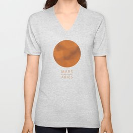Aries - Ruling Planet Mars Unisex V-Neck