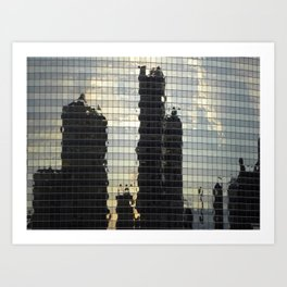 Reflections of Chicago  Art Print