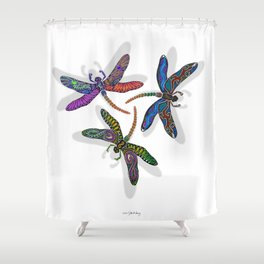 DRAGONFLY CIRCLE Shower Curtain