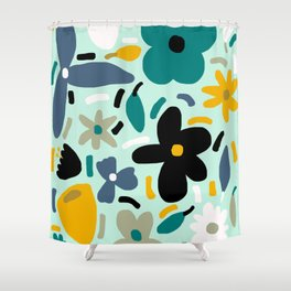 Flower Party Shower Curtain