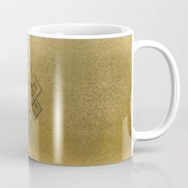 Golden Embossed Endless Knot Coffee Mug