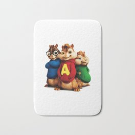 Chipmunks - You Spin Me Right Round Bath Mat