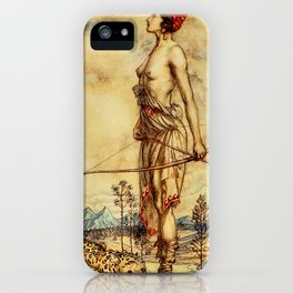Bare chested archer iPhone Case