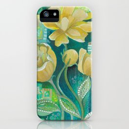 Yellow Blooms iPhone Case