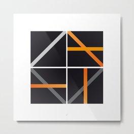 minimal arancio Metal Print