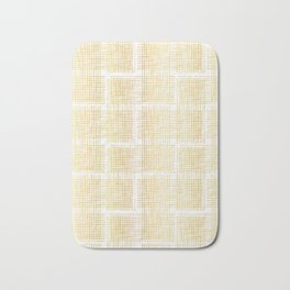 Luxe Gold Criss Cross Weave Hand Drawn Vector Pattern Background Bath Mat