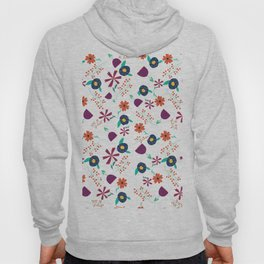 Purple Orange Blue Flower Pattern Hoody