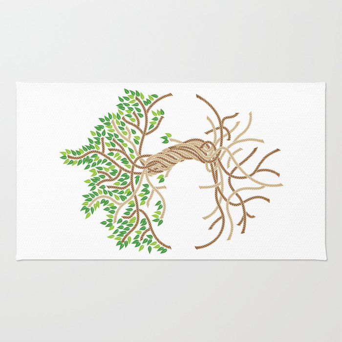 Rope Tree of Life. Rope Dojo 2017 white background Rug