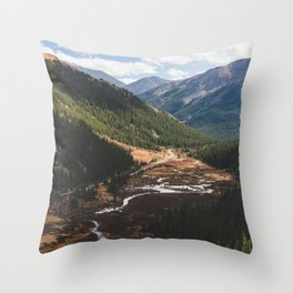 Climbing Independence Pass Throw Pillow