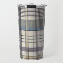 Linear Plaid Travel Mug