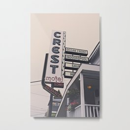 Crest Motel Metal Print