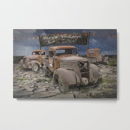 Vintage Auto Sales by Harv Metal Print