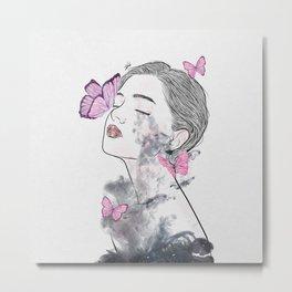 A touch of butterflies. Metal Print