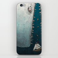 dick iPhone & iPod Skins featuring Moby Dick by Jamie Leonard