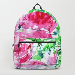 Blooming bouquet #7    watercolor Backpack