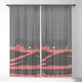Black Dunes Sheer Curtain