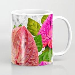 Flamingo flower with marble #society6 Coffee Mug