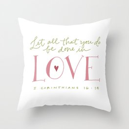 Corinthians Throw Pillow