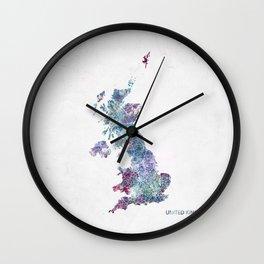 united kingdom map Wall Clock