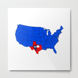The State of Texas Metal Print