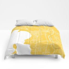 Burlington map yellow Comforters