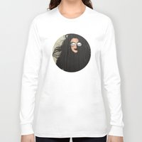 hair Long Sleeve T-shirts featuring Hair by Vin Zzep