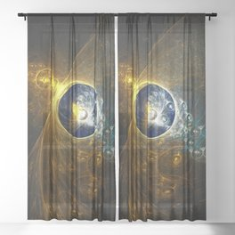 The Chrysalis Time Machine Sheer Curtain