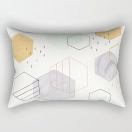 Hexagon Scatter Rectangular Pillow
