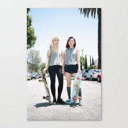 Skater Girls Canvas Print