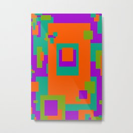 Herb, Berry, Pumpkin Decorative Design 1 Metal Print