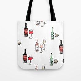 #DrinkWineDay Pattern Tote Bag