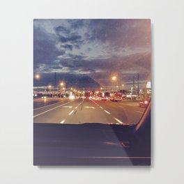 Driving at night Metal Print