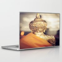 buddhism Laptop & iPad Skins featuring Buddha the other side  by Maria Heyens