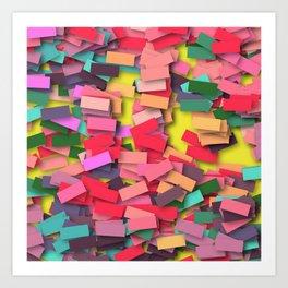pink colored bricks Art Print