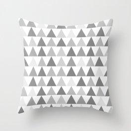 Arrows Minimalist Monochrome Geometric Pattern in Grey and White Throw Pillow