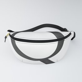 Letter Q Initial Monogram Black and White Fanny Pack