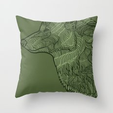Enthusiastic Wolf Throw Pillow