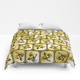 Sepia dragons pattern Comforters