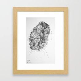 Hair two Framed Art Print