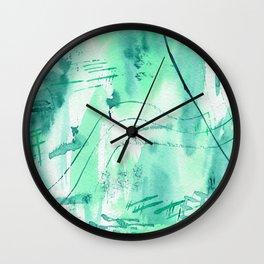 Emerald vibes || watercolor Wall Clock