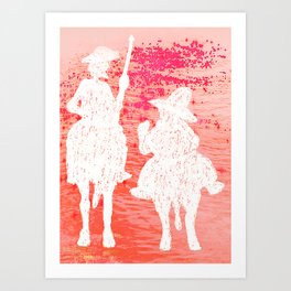 quixote and his friend Art Print