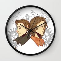 winchester Wall Clocks featuring Winchester Bros by PotatoCrisp