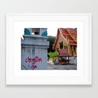 thailand Framed Art Prints featuring Thailand by Kimberly Vogel Travel Photographer