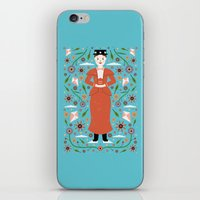 mary poppins iPhone & iPod Skins featuring Mary Poppins by Carly Watts