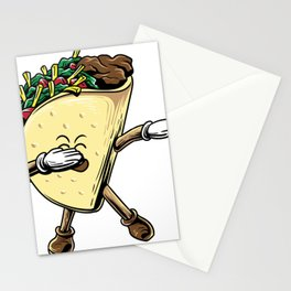 Dabbing Taco Shirt Taco Lover Dab Pose Taco Stationery Cards