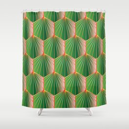 Glam Rock Peacock Green Shower Curtain