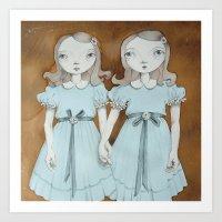 Shinning Twins Art Print