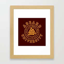 Asgard University Framed Art Print